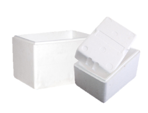 Styrofoam boxes for seafood